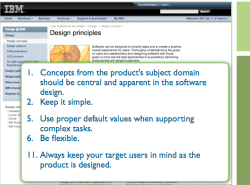 IBM's set of design principles.