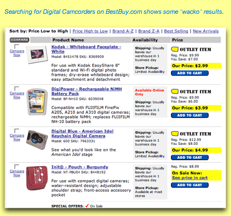 Digital Camcorder Search on Best Buy
