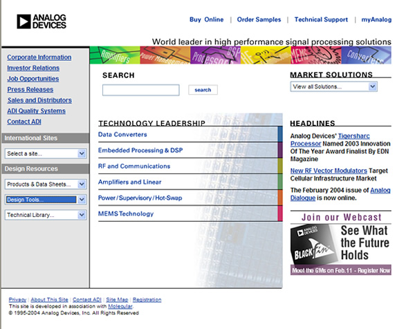 Old Analog Devices Home Page