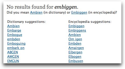 Dictionary.com's results for Embiggen