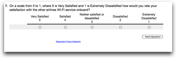 How satisfied was I with other airlines service?