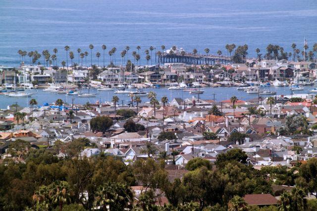 Newport Beach Harbor Ocean View